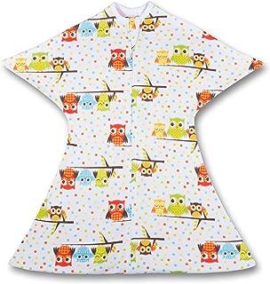 SleepingBaby Hootie Hoo Zipadee-Zip Swaddle Transition Baby Swaddle Blanket with Zipper, Comforting Cozy Baby Swaddle Wrap and Baby Sleep Sack (Small 4-8 Months | 12-19 lbs, 25-29 inches | Hootie Hoo)