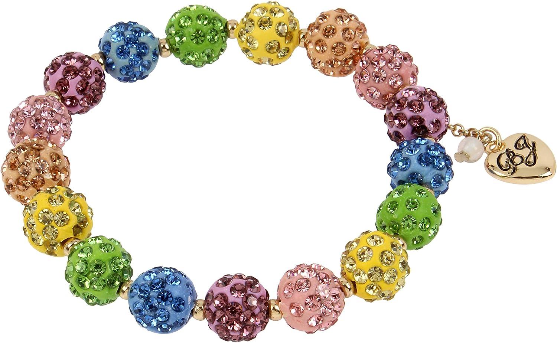 Betsey Johnson Stone Bracelet Max 84% OFF SALENEW very popular Stretch Fireball