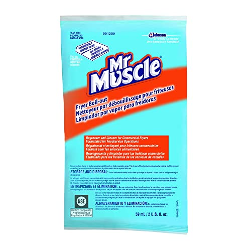 Diversey Mr. Muscle Boil Out Fryer Cleaner (2-Ounce, Case of 36