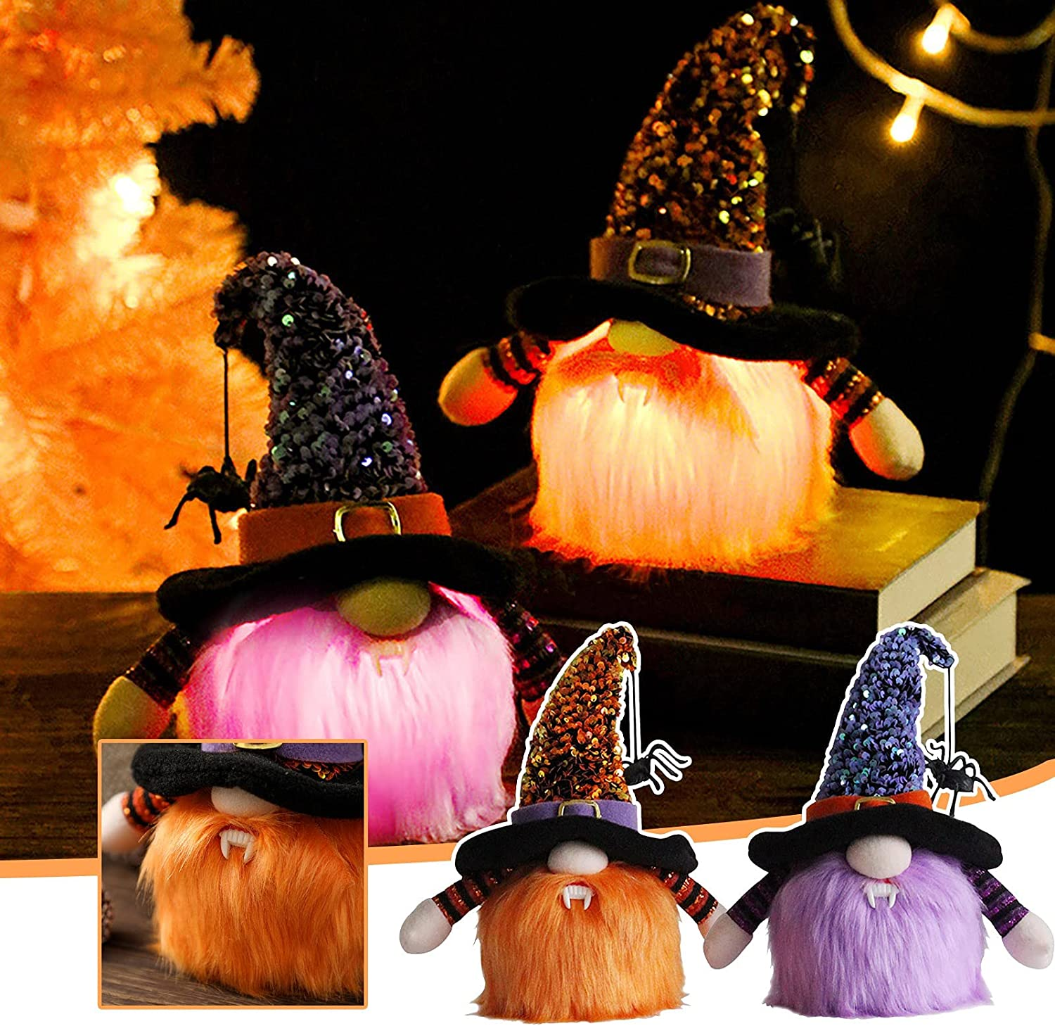 Yongjiesag Halloween Glow Spider Facele Decoration Max 48% OFF Discount is also underway Party Vampire