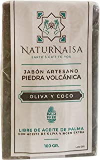 Jabón Natural EXFOLIANTE Piedra volcánica. Artesano con