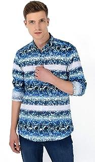 Ağrive Slim Fit Uzun Kollu Gömlek Mavi