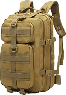 HUAKD Military Tactical Backpack Small 41L Army Outdoor Hiking Daypack Molle 3 Day Assault Bag
