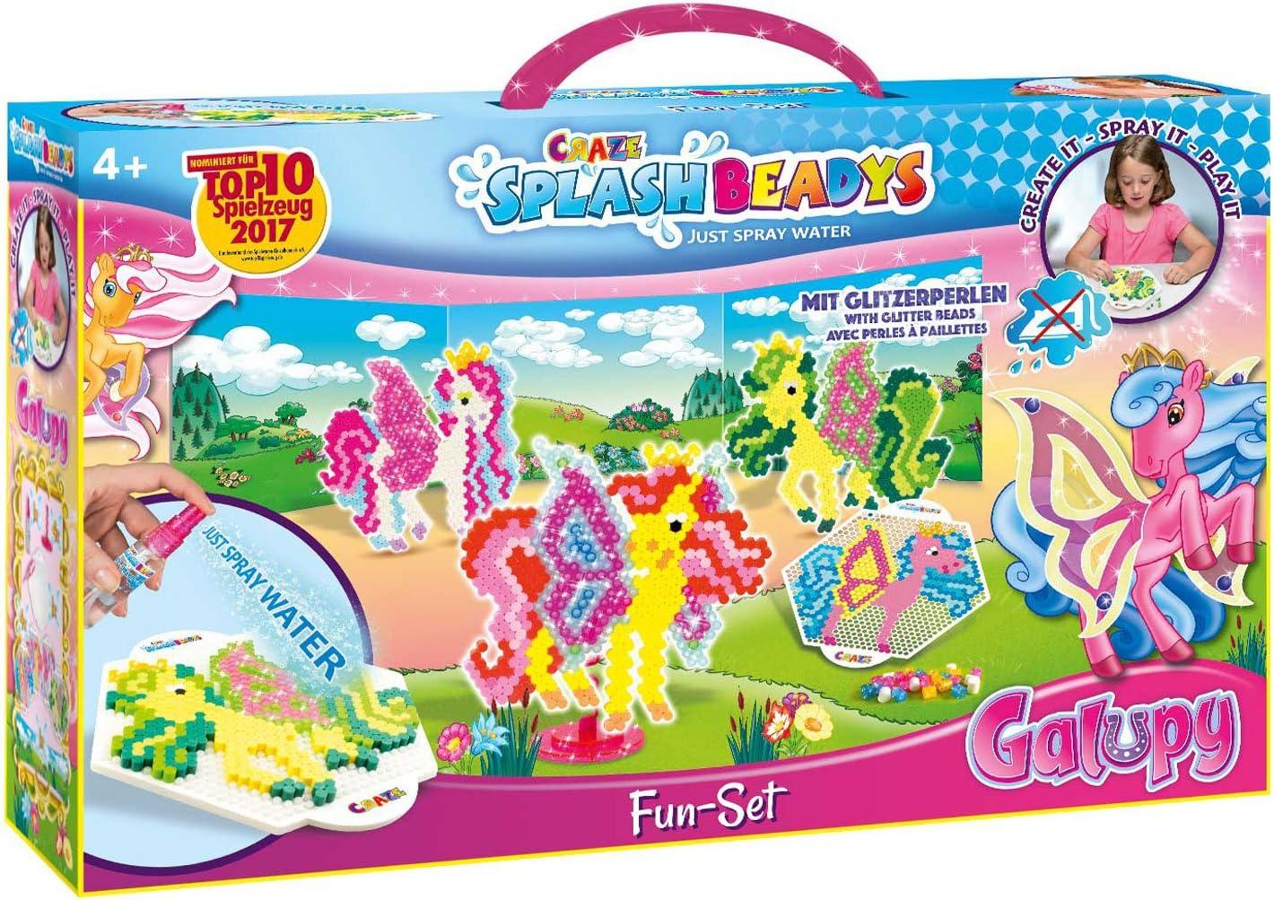 CRAZE SPLASH BEADYS Fun Set GALUPY Kit cavallo artigianale per bambini perline 12253