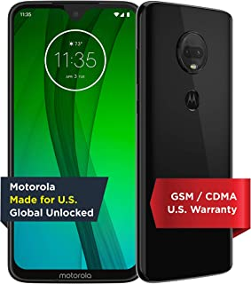 Moto G7 | Unlocked | Made for US by Motorola | 4/64GB | 12MP Camera | Black