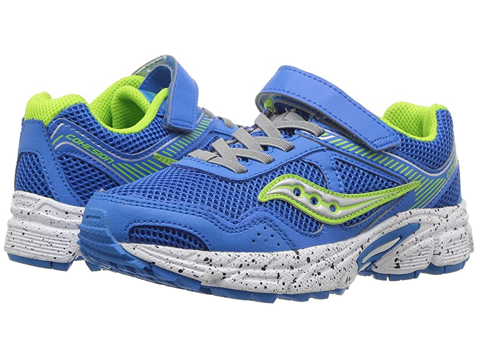 Saucony Kids Cohesion 10 A/C (Little Kid) (Grey/Blue/Green) Boys Shoes