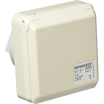 3 Polos 32 A Mennekes 101100353 Bases en Caja Sistema CEPEX-TH 50-60 Hz IP 44 Tomas de Corriente CEE 230 V