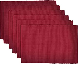 Yourtablecloth Ribbed Cotton Placemats – Placemat with Thicker Construction – Heavy Duty, Eco Friendly & Elegant Large Pla...