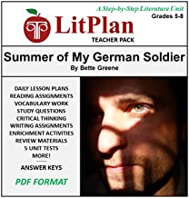 Homeschool and Online Learning Novel Study Guide for The Summer of My German Soldier