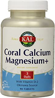KAL Coral Cal Mag Plus 600 mg/300 mg Tablets, 90 Count