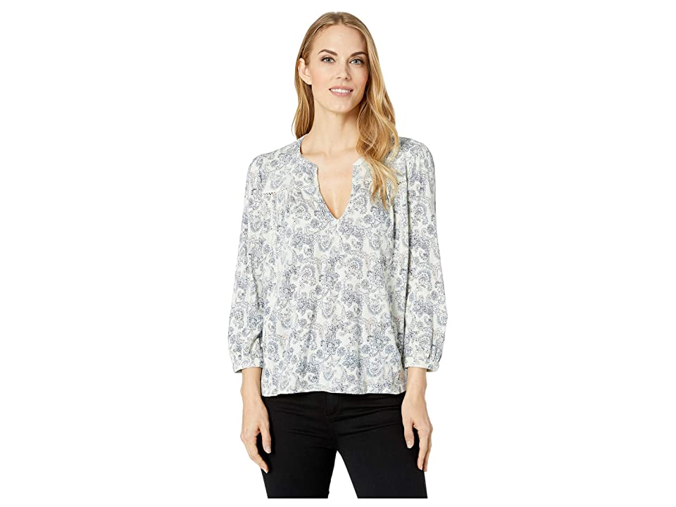 Lucky Brand Peasant Top (Multi) Women's Long Sleeve Pullover