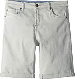 Classic Five-Pocket Stretch Twill Shorts in Greystone (Big Kids)