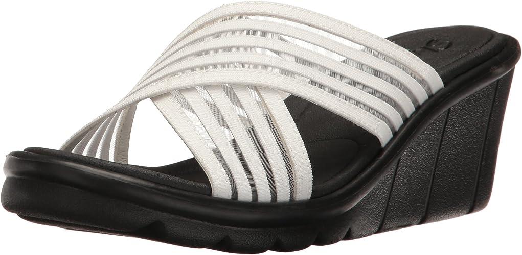 Skechers Cali Wohommes Promenade Easy Go Wedge Sandal, blanc, 10 M US