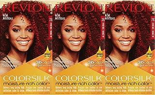 Revlon Colorsilk Moisture Rich Hair Color, Vivid Red No.76, 3 Count