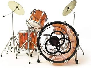 FanMerch Drum Kit Led Zeppelin, John Bonham, Tribute Vistalite Transparent Amber Mini Drum Set Replica Collectible