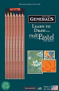 قلم رصاص جنرال 40 كيفية الرسم مع أقلام متعددة الباستيل ، متعدد الألوان