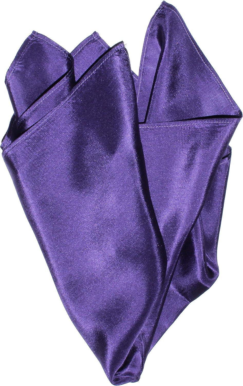 Fine Eggplant Silk Pocket Square - Full-Sized 16