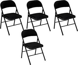 Cosco Fabric Folding Chair Black (4-pack)