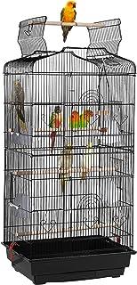 Yaheetech Woliera dla ptaków, klatka dla ptaków, domek dla ptaków, czarny