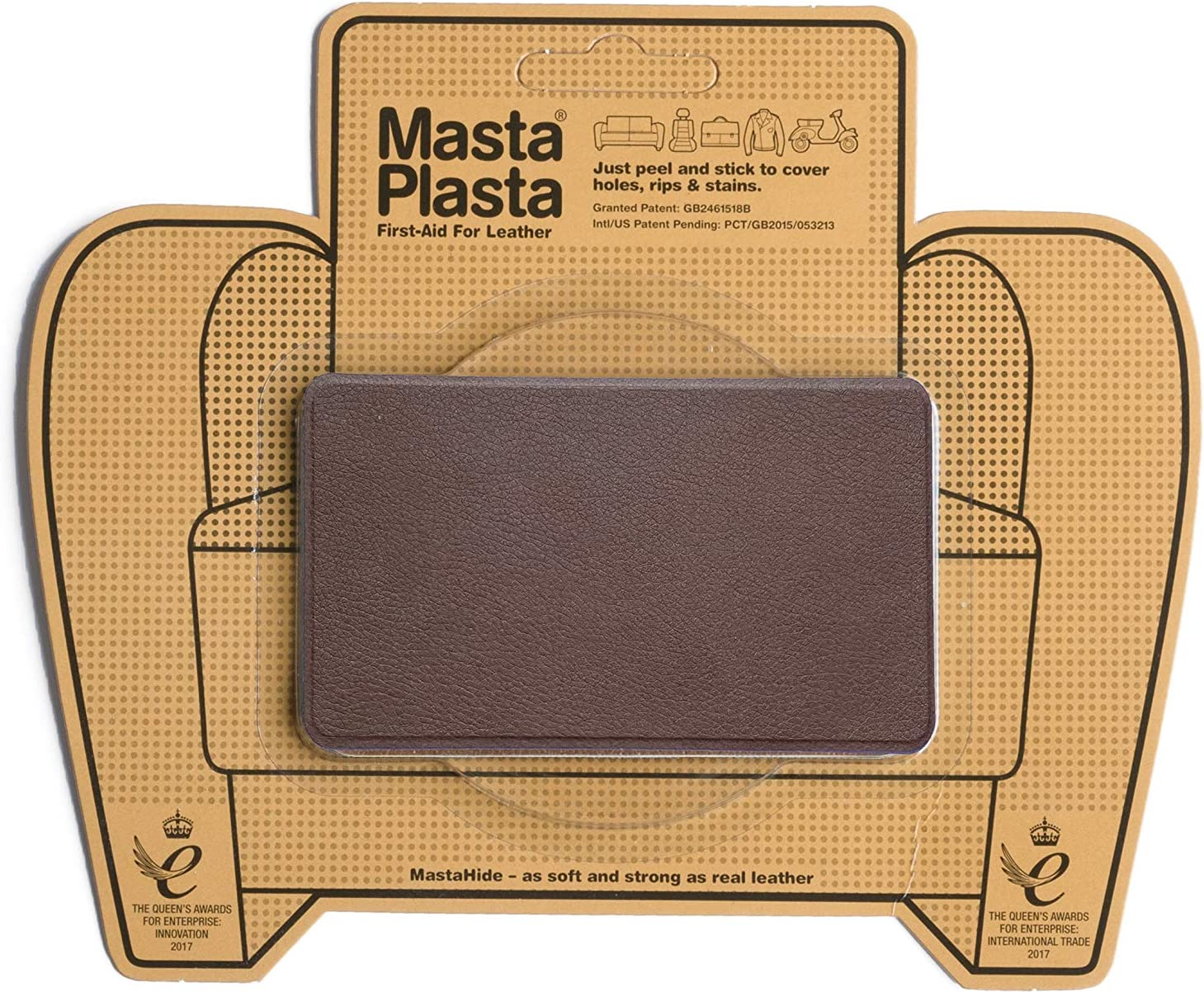 Brown At the price of surprise MastaPlasta Limited Special Price Self-Adhesive Repair Patches. Suede