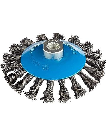 spazzole in Filo Metallico BGS 3078-19-S 1//4 per 3078 3 Pezzi 19 mm Attacco esagono Esterno 6,3 mm Acciaio