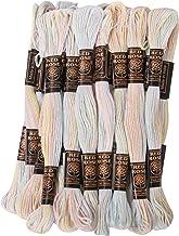 GroupB 25 écheveaux point de croix ancre coton fil à broder fil à broder couture multicolore clair