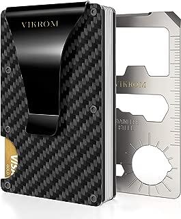 Carbon Fiber Wallet   RFID Blocking Front Pocket Wallet   Carbon Fiber Money Clip   Credit Card Holder for Men and Women   Business Card Holder   Mens Wallet   RFID Wallet   Metal Wallet   Money Clip