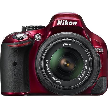 Nikon D5200 Cmos Dslr With 18 55mm F 3 5 5 6 Af S Nikkor Zoom Lens Red Discontinued By Manufacturer Digital Camera Camera Photo