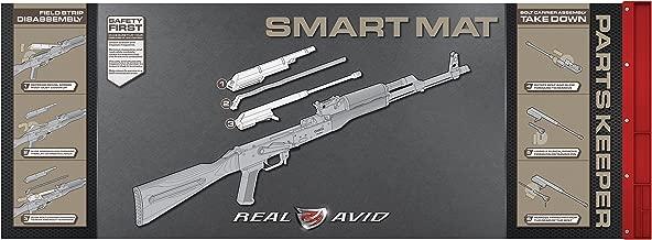 "Real Avid 7.62 Smart Mat - 43x16"", 7.62MM Rifle Gun Cleaning Mat, Red Parts Tray"