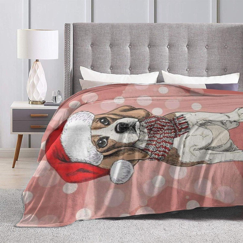 COFEIYISI Couverture Polaire Ornements de Flocon de Neige Noël Flamant Rose de Noël Rouge Couverture de Lit Douce et Chaude Jeté de Canapé Flanelle 153x204cm Color-1