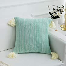 famibay Knitted Pilllow Covers, Decorative Cotton Knitted Pillow Case Cushion Cover Double-Cable Knitting Patterns Soft Warm Throw Pillow Covers 18