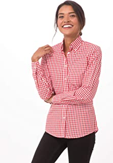 Chef Works Women's Gingham Dress Shirt
