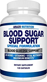 Blood Sugar Support Supplement - 20 Herbs & Multivitamin for Blood Sugar Control with Alpha Lipoic Acid & Cinnamon - 120 P...