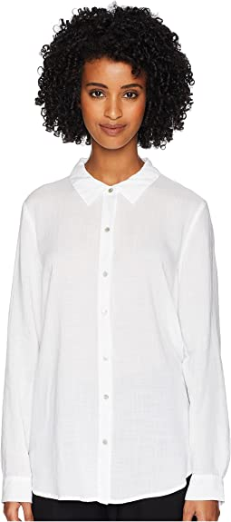 Drapey Tencel Crosshatch Classic Collar Shirt