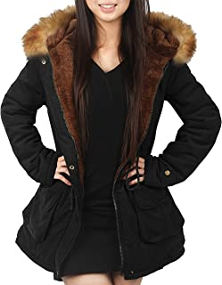 14a30ed7e 4How Parka Coat with Hood for Women Black Olive Green UK Size 10 12 14 16
