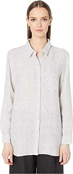 a2f547d84856b7 Eileen Fisher. Organic Cotton Lofty Gauze Classic Collar Shirt.  168.00.  New. Pearl