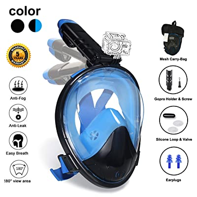 Ufanore Full Face Snorkel Mask, Snorkeling Mask...