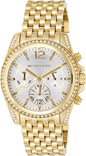 Michael Kors Womens Quartz Watch, Analog Display and Gold Plated Strap MK5835