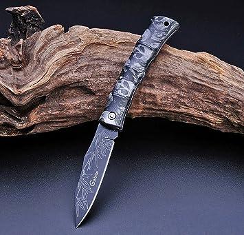 ETU24 - Navaja de bolsillo en diferentes colores y diseños, navaja universal, cuchillo de camping, cuchillo de exterior, envío directo de Alemania