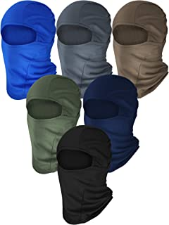 Tatuo 6 Pieces Balaclava Ski Mask Winter Full Face Mask Motorcycle Windproof Mask (Color Set 1)