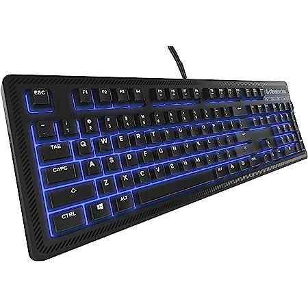 SteelSeries Apex 100, Teclado para Juegos, con retroiluminación Azul, Teclas Macro, Gestión de Software, (PC/Mac) - Disposición US QWERTY