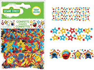 amscan 361672 Confetti Sesame Street® Collection 1 pack Party Accessory, Multicolor