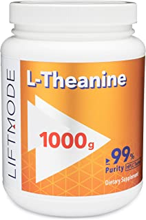 LiftMode L-Theanine Powder Supplement - for Focus, Stress Relief, Weight Loss, Pre Workout | Vegetarian, Vegan, Non-GMO, Gluten Free - 1000 Grams (5000 Servings)