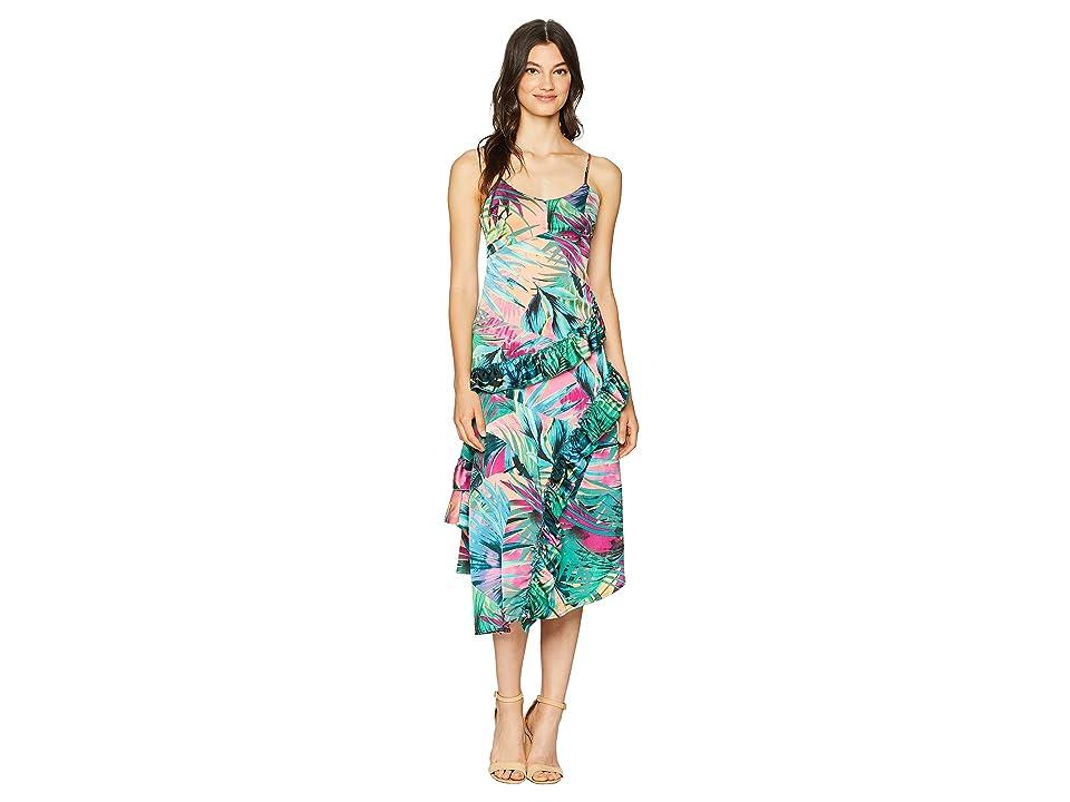 ROMEO & JULIET COUTURE Tropical Print Dress (Pink Multi) Women