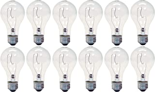GE Lighting 16068 Crystal Clear 150-Watt A21 Light Bulb with Medium Base, 12-Pack