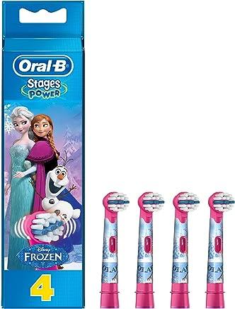 Oral-B Stages Power Cabezal de Recambio Para Cepillo Eléctrico con los Personajes de Frozen x 4