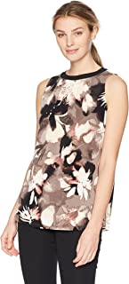 Ellen Tracy Women's Sleeveless Top With Smocking