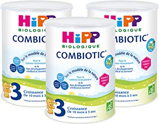 HiPP Biologique Lait Bébé en Poudre Dès 10 mois a 3 ans - 3 x 800g
