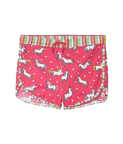 Hatley Kids Prancing Unicorns Swim Shorts (Toddler/Little Kids/Big Kids) (Pink) Girl