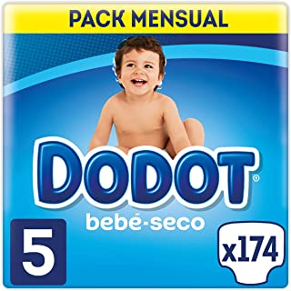comprar comparacion Dodot Bebé-Seco - Pañales, con canales de aire, 11-16 kg, Talla 5, Pack de 174